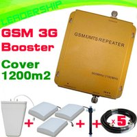 Wholesale Hot sale Cover m2 mhz mhz G cell phone booster dual GSM mhz WCDMA MHZ G repeater indoor outdoor antenna