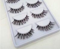 Wholesale Pairs Natural Sparse Cross Eye Lashes Extension Makeup Long False Eyelashes