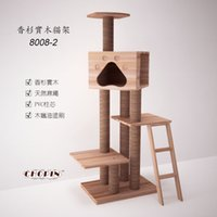 Wholesale Tree house for cat cm kg cedarwood linen custom processing pet cat tree climbing toys for cats Cat climbing frame