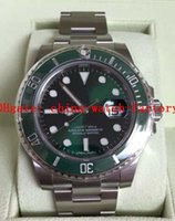 Precio de Cerámica blanca reloj de pulsera-NUEVO RELOJ DE LUJO 116610LV cerámica verde HULK Box Nuevo Estilo Blanco Tarjetas de pulsera