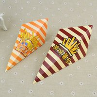 chicken wings - Triangle Conical Bigger Favorites French Fries Bag Eco Friendly Fried Chicken Wings Box MINI Dessert Container CK176