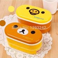 band lunch boxes - set Cute Bear Lunch Box With Chopsticks and Elastic Band Dinnerware Sets DS9xQW