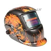Wholesale Flame Auto Darkening Fire Skull Welding Grinding Helmet Welder Mask DH001 X25