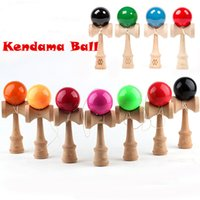 wooden ball - 18 cm Kendama Ball Toy Shine Smooth PU painting beech Wooden Japanese Traditional Funny Sword ball Game Education Toy Christmas gift