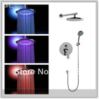 bathrom set - inch cm brass lighting big led shower head whole shower set together good cheap price for promotion bathrom tools emergi