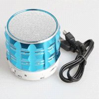 Wholesale For iPhone New Portable Mini Bluetooth Speakers Metal Steel Wireless Smart Hands Free Speaker With FM Radio Support SD Card