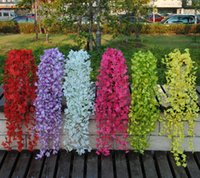 plastic rattan - Simulation flower vine Artificial flower plastic flower vine Evergreen vines Decorative plants green radish roses Flower Rattan Wall F05