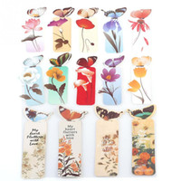 Wholesale New Fashion Creative Butterfly Bookmarks Cartoon Book Marks Paper Clip Office School Gifts