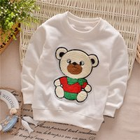 baby hoodie pattern - Active Baby Boys And Girls Cotton Shirt Colors O Neck Cute Cartoon Hoodies Bear Pattern Newborn Clothing KT090B
