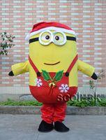 Per regalo di Natale Red Dress spregevole me Serventi mascotte Cartoon Dimensioni costumi adulti