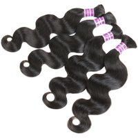 hair color - 7A Peruvian Virgin Hair Body Wave Bulk Hair For Braiding Human Hair For Braiding Bulk No Attachment Cheap Bulk Hair No Weft inch