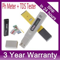 Wholesale Digital PH Meter TDS Tester Monitor for Aquarium Fishing Industry Swimming Pools Laboratory Food Beverage PPM