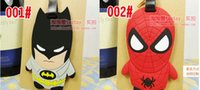 Wholesale The new hero alliance Captain America batman Spider man superhero series of luggage tag K005C