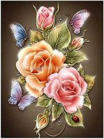 beadwork patterns - Hot Sale flowers Butterfly Rose Resin Products diy diamond painting diamond mosaic beadwork embroidery Gift making tools diamond pattern