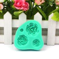 Wholesale New Rose Silicone Mold Cake Decorating Tool For Fondant Cake Cupcake Jecksion