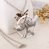 arrow jewelry - 2016 Fashion Jewelry Classic The Hunger Games Necklaces Inspired Mockingjay And Arrow Pendant Necklace bird Pendant Necklaces ZJ
