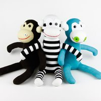 Rabbits & Monkeys baby wells - Handmade sock monkey stuffed animal doll get well for baby girls boys child birthday party gift