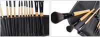 bag leather care - New Professional Face Care Makeup Brushes Set Leather Bag Cosmetics Styling Tools Make Up Brush Kit