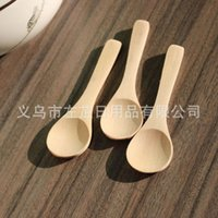 Wood baby spoons lot - New Solide Feeding Small Wooden Kid Baby Spoon