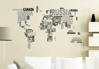 alphabet letters chart - 2015 lastest fashion World map letters of an alphabet home cm Wall Sticker Home Decor Room children Kids