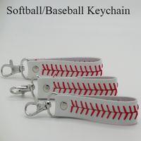 Wholesale new product baseball keychain fastpitch softball accessories baseball seam keychains