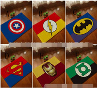 Wholesale superman Batman Captain America Iron Man series mats Super soft cartoon bathroom carpet superman door mat