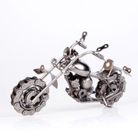 Wholesale Mettle metal crafts iron chain screw motorcycle model ornaments gifts Wrought iron handicrafts ornaments Gifts home decoration