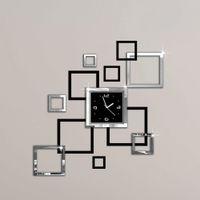 album watch - Album Silver Black D DIY Mirror Wall Clock Modern Design Relojes De Pared Watch Wall clocks Unique Gift