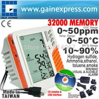 Temperature Controller ammonia meter - Wall mount Desktop VOC RH Temperature Datalogger Meter Memory Monitor ppm Tester Ammonia Ethanol Toluene Sensor