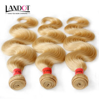 Extensiones de cabello rubio platino Bleach brasileña humano del color de 613 grados 7A peruana de Malasia india del cuerpo del pelo de la onda de la armadura de lotes se puede teñir