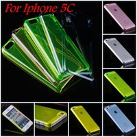 mobile phone crystal hard case - DHL Free C Clear Case Hard PC Plastic Cover For Iphone C Back Phone Case Crystal Clear Transparent Mobile Phone Case
