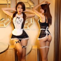 Wholesale Sexy lingerie sexy underwear lovely Female Maid classical Lace sexy miniskirt lolita maid outfit sexy costume sex products