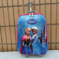 Wholesale Snow Queen luggage Kids Snow Queen Suitcases D Printed Elsa Anna Girls favorite