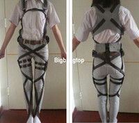 Wholesale 1507 Attack on Titan Shingeki no Kyojin Recon Corps Harness belt hookshot Costume Adjustable Belts cosplay belts