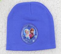 Cheap Frozen elsa anna hat Children's beach hat UV cap accessories caps bone snapback beanie bucket hat Knitting warm