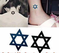 arms points - Hot Sale waterproof body stickers hot batch of six pointed stars tattoo stickers