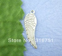 angels bail - Sliver Tone Angel Wings Charms Pendants x30mm Jewelry Findings jewelry making findings jewelry findings pendant bails
