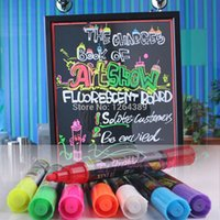 Wholesale 8pcs Colors Highlighter Fluorescent Wet Liquid Chalk Neon Marker Pen Pack Dry Erase