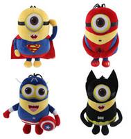 Wholesale Cosplay Avengers Minion Toys Captain America Superman SpiderMan Batman CM D Eyes Plush Toys Despicable Me Brinquedos
