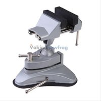 Wholesale Bench Vise mm Soft Jaw Suction Base Vice Tilts Rotates Universal Work Tool