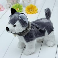 Wholesale Cute Funny Singing Dancing Walking Electronic Moving Husky Dog Puppy Toy Gift For Kids Children Girl Child order lt no track
