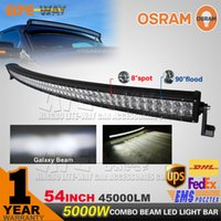 Wholesale 54 inch W OSRAM Curved LED Work Light Bar led offroad Light x4 UTV WD SUV Truck Car Offroad Driving Lamp