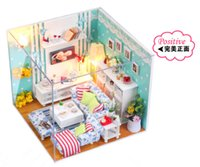 home furniture decoration - DIY Doll Home Manual Wooden Doll House Miniatures for Decoration