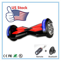 electric remote - 2016 New Stock in USA LED Scooters inch Two Wheel Smart Scooter Electric Hoverboard Bluetooth Remote Skateboard Self Balance Scooter