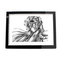 Wholesale Free DHL A3 LED Tracing Boards Acrylic Panels Animation Cartooning Tattoo LED Light Pad Handwriting Boards