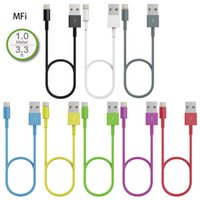 Wholesale MFi Certified M ft Lightning P to USB Sync Charger Cable for Apple iPhone s c Plus s s iPad Air pro Mini Colors