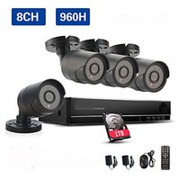 Wholesale 8CH H CCTV System Waterproof Video Recorder TVL Home Security x Camera Surveillance Kits TB HDD