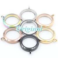 Wholesale mm water proof twist top L stainless steel floating glass locket pendant plain face colors