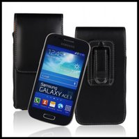 ace pc - 50 Universal cellphone hang waist pocket flip wallet pu leather case for samsung galaxy S3 S4 For Galaxy Ace S7270 S7390 S5830