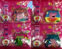 Wholesale Pink pig projection Watch coin Purse set Pink pig projection Watches Pink pig coin wallet for Christmas Kids Boys Girls Gift H0404e